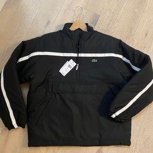 Supreme x Lacoste puffer jacket half zip pullover